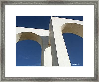 Framed Print featuring the photograph Los Arcos by Dick Botkin