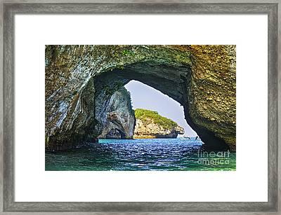 Los Arcos Marine Park Framed Print