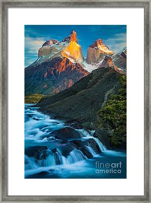Los Cuernos Falls Framed Print by Inge Johnsson