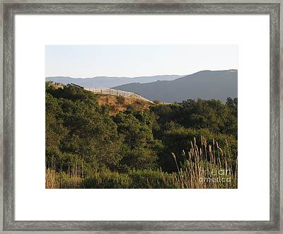 Framed Print featuring the photograph Los Laureles Ridgeline by James B Toy