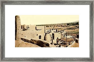 Los Pueblos De Taos Framed Print