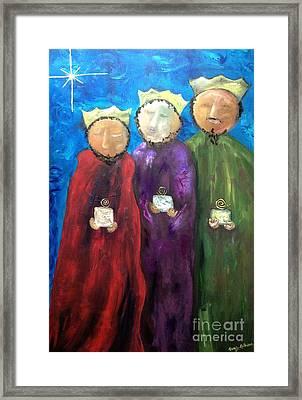 Los Reyes Magos Framed Print