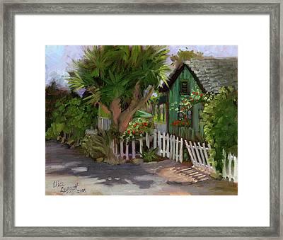 Los Rios Street San Juan Capistrano California Framed Print by Alice Leggett
