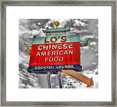Lo's Route 66 Sign Framed Print by Ron Regalado