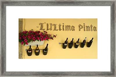 Los Vinos Framed Print by William Lanza