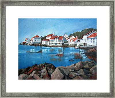 Framed Print featuring the painting Loshavn by Janet King