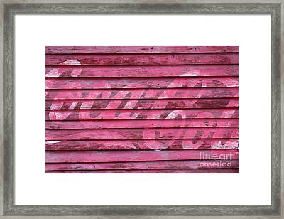 Losing Its Fizz Framed Print by James Brunker