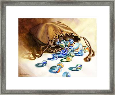 Losing My Marbles Framed Print by Daydre Hamilton