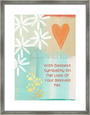 Loss Of Beloved Pet Card Framed Print by Linda Woods