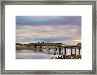 Lossiemouth Walk Bridge Framed Print