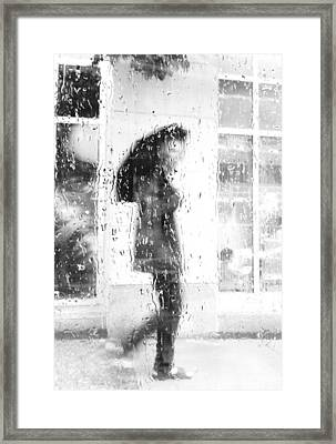 Lost A Tear In Rain Framed Print by Empty Wall