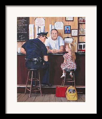 Police Community Relations Framed Prints