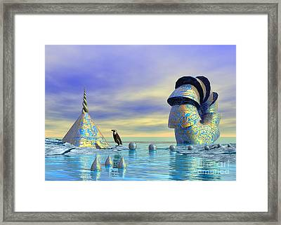 Lost And Found - Surrealism Framed Print by Sipo Liimatainen