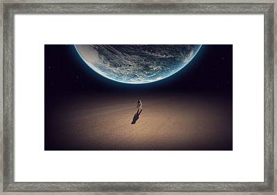 Lost Astronaut   Framed Print by Nathan Clepper