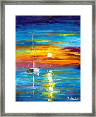 Lost At Sea Framed Print by Jessilyn Park