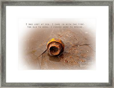 Framed Print featuring the photograph Lost At Sea by Lena Wilhite