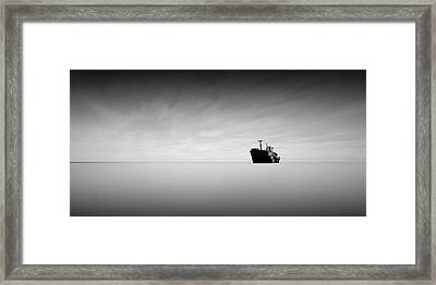 Lost At Sea Framed Print by Mihai Florea