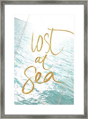 Lost At Sea Framed Print