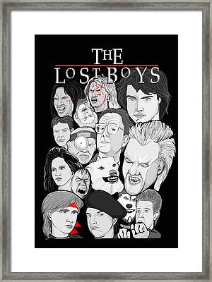 Lost Boys Collage Framed Print by Gary Niles