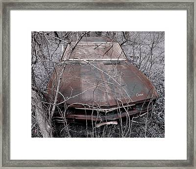 Framed Print featuring the photograph Lost Corvair Adjustment  by Christopher McKenzie