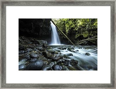 Lost Falls Framed Print