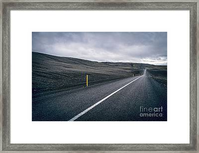 Lost Highway Framed Print by Evelina Kremsdorf