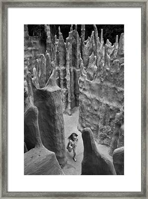 Lost In A Black And White Dream Framed Print