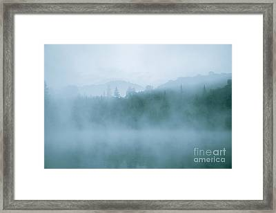 Lost In Fog Over Lake Framed Print by Jola Martysz