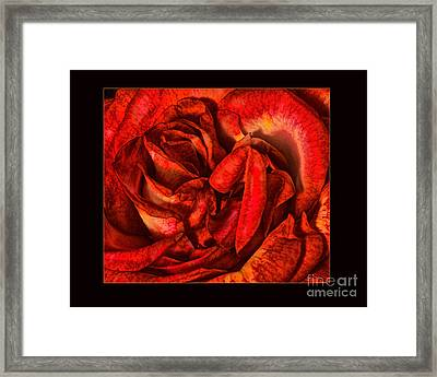 Lost In Her Lips Framed Print