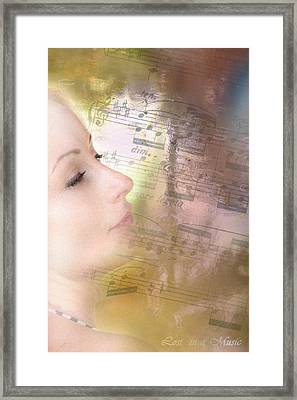 Lost In Music. It Is In The Rain Framed Print by Jenny Rainbow