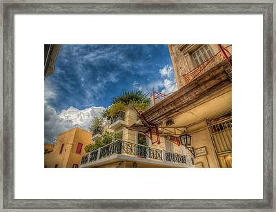 Framed Print featuring the photograph Lost In Plaka by Micah Goff