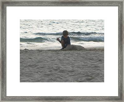 Lost In Play Framed Print