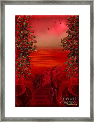 Lost In Red - Surreal Art By Giada Rossi Framed Print by Giada Rossi