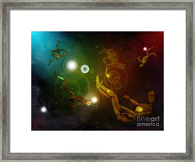 Lost In Space Framed Print by Rosa Cobos