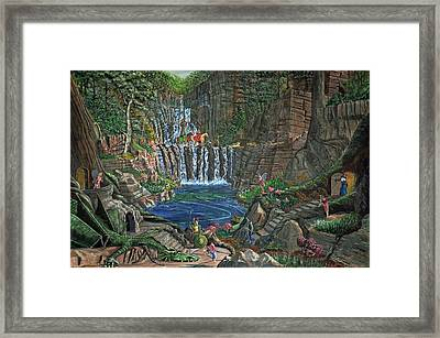 Lost In The Magic Forest Framed Print by Anthony Lyon