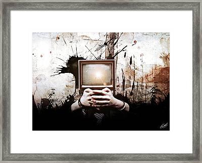 Lost In The Media Framed Print by Aj Collyer