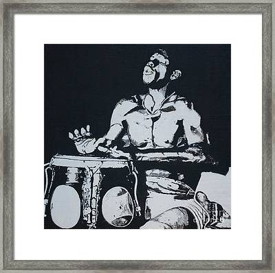 Lost In The Rhythm Framed Print