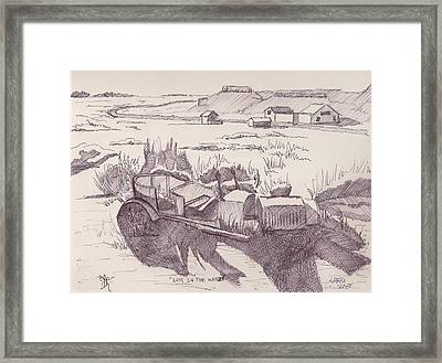 Lost In The Weeds Framed Print