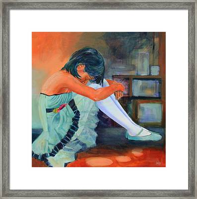 Lost In Thought Framed Print by Sue  Darius
