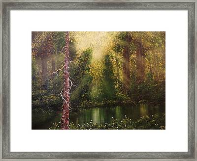 Lost In Thought Framed Print by Xochi Hughes Madera