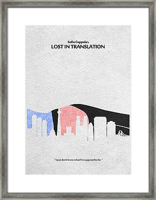 Lost In Translation Framed Print by Ayse Deniz