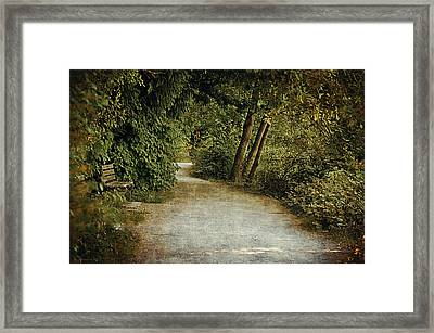 Lost Lagoon Path Framed Print by Maria Angelica Maira