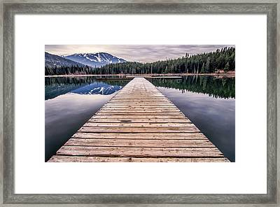Lost Lake Dock Framed Print