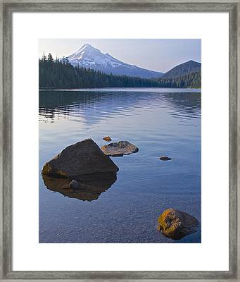 Framed Print featuring the photograph Lost Lake Morning 81014 by Todd Kreuter