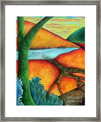 Framed Print featuring the painting Lost Land 1 by Elizabeth Fontaine-Barr