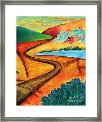 Framed Print featuring the painting Lost Land 2 by Elizabeth Fontaine-Barr