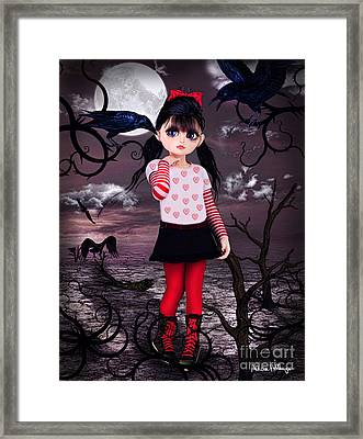 Lost Little Girl Framed Print
