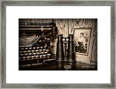 Lost Love In Black And White Framed Print by Paul Ward
