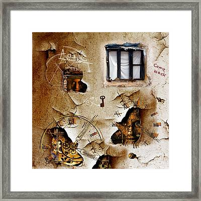 Lost Memories Behind My Longing Window Framed Print