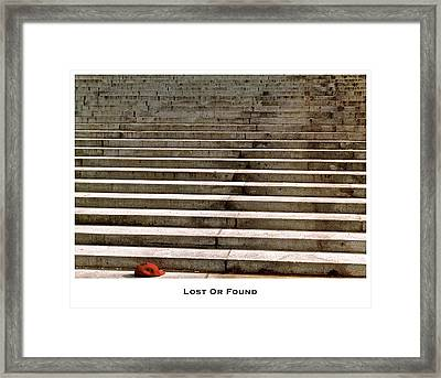 Lost Or Found Framed Print by Lorenzo Laiken
